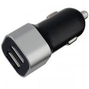 PERFEO Автомобильное зарядное устройство с двумя разъемами USB, 2.4A, черный (I4620)