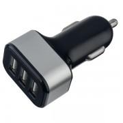 PERFEO Автомобильное зарядное устройство с тремя разъемами USB, 3.1A, черный (I4622)