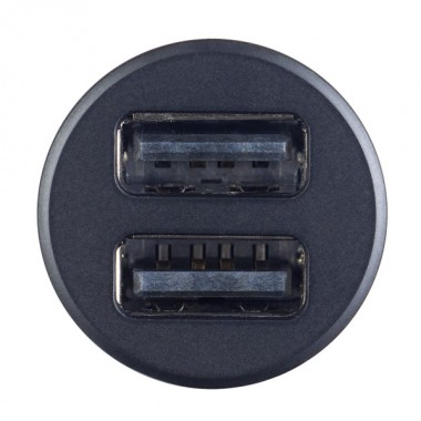 PERFEO Автомобильное зарядное устройство с двумя разъемами USB, 2x2.4А, черный, «AUTO 2» (PF_A4457)