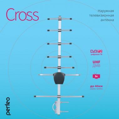 Perfeo ТВ антенна наружная пассивная CROSS (BAS-1156) логопериодическая