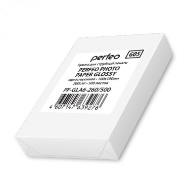 Perfeo 10х15 260 г/м2 глянцевая 500л (PF-GLA6-260/500)