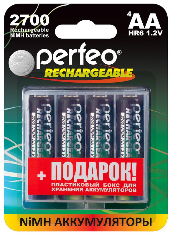 Аккумуляторы Perfeo AA2700mAh с пластиковым боксом для хранения в подарок!