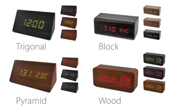 Настольные часы-будильник «деревянной» серии