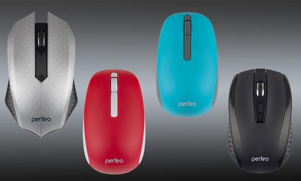 Полноразмерные и симметричные беспроводные мыши Switch и Funny с разрешением 1200 DPI, а также мышь Level