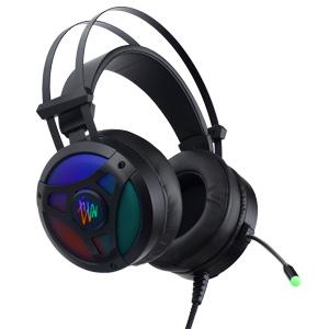 Perfeo игровая гарнитура TITAN черная 2,1 м, USB, виртуальный звук. 7.1, динамическая RGB подсветка