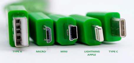тип А, микро – USB  и тип С