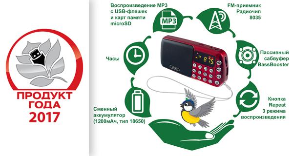 Портативный радиоприемник i70 СИНИЦА